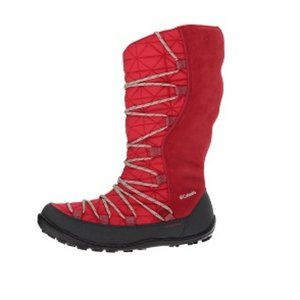 Columbia Loveland Omni Heat Red Lace Up Snow Boots